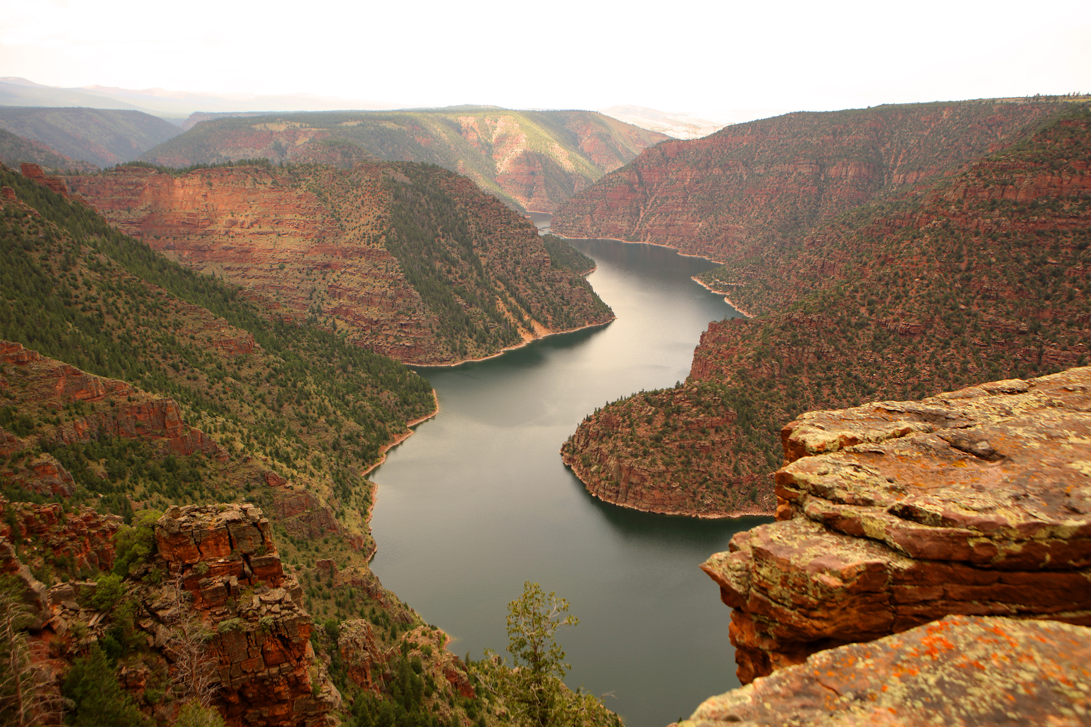 Red Canyon Viewpoint at Flaming Gorge Recreational Area in Utah USA